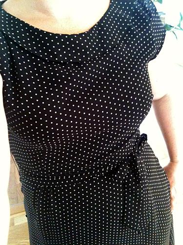 Här har jag klänning med insulinpumpboxer under