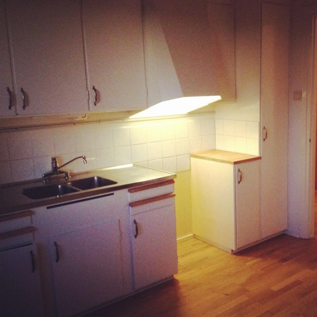 Sista bilden på mitt gamla kök