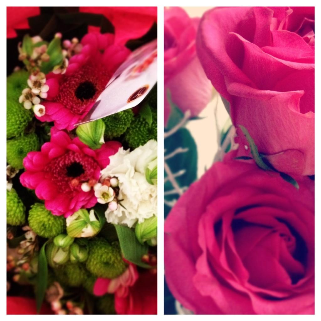 Vackra blommor på födelsedagen