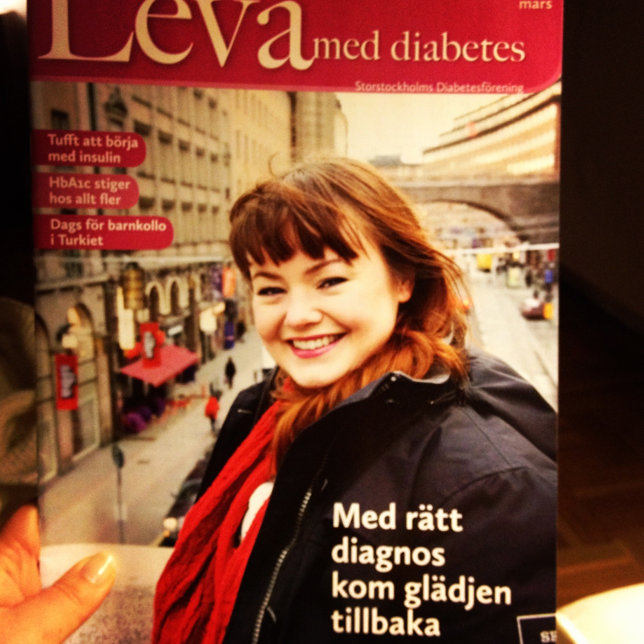 Artikel om gastropares i Leva med diabetes, Storstockholms diabetesfrenings tidnign