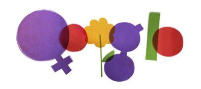 Även Google uppmärksammar Internationella Kvinnodagen med en doodle