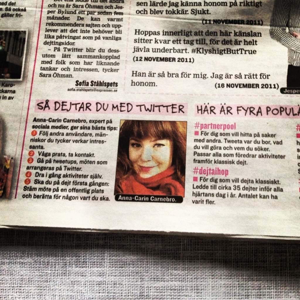 I Expressen blev jag expert på sociala medier
