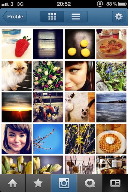 Mina senaste alster i Instagram