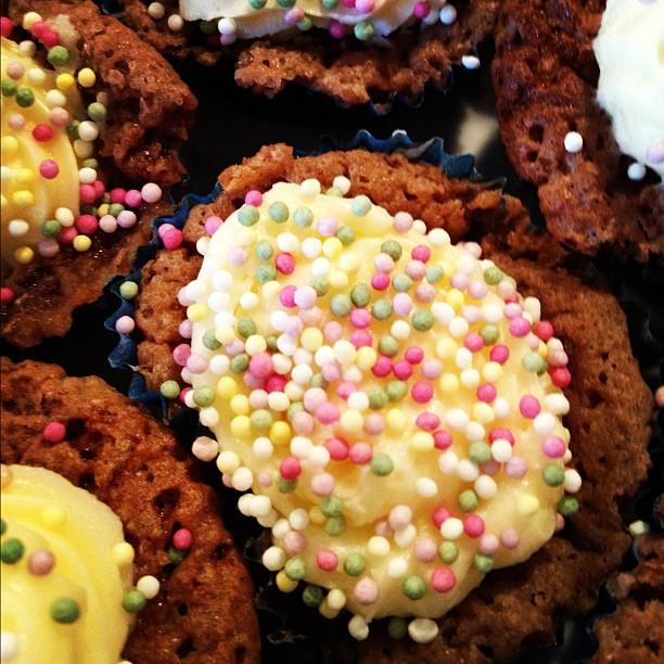 Punschpralin-cupcakes