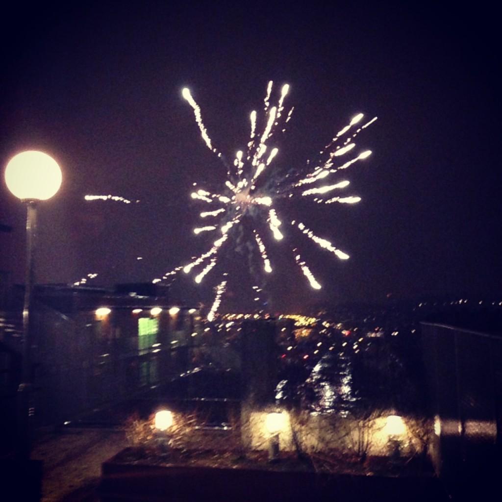Utsikten från takterassen på nyår