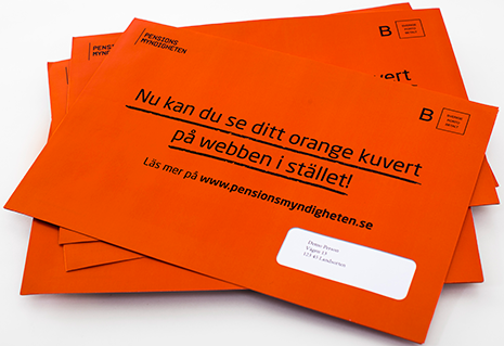 F inte ngest av ditt pensionsbesked i det orangea kuvertet!